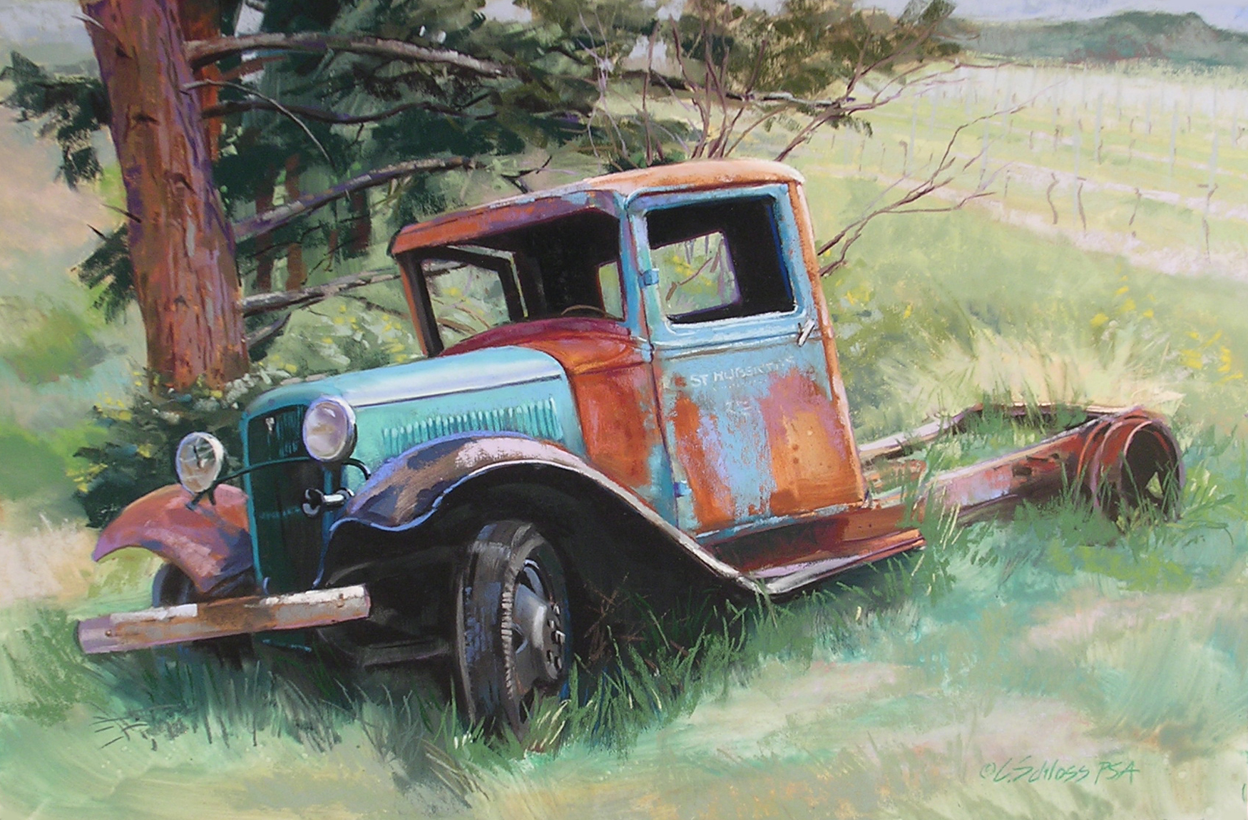 Carol Schloss Pastels out to pasture
