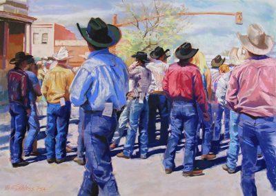 Carol Schloss Pastels Blue Jeans-The Cowboy Uniform