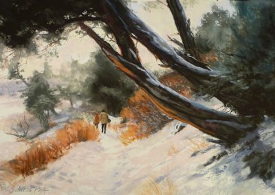 Carol Schloss Pastels Boiling River Trail in Yellowstone