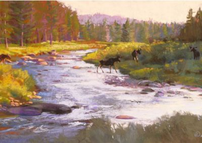 Carol Schloss Pastels Crossing Over the Little Tongue